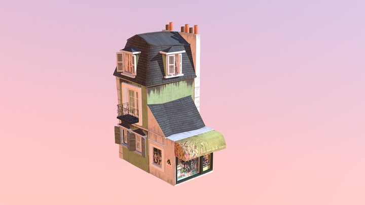 FlowerShop 3D Model