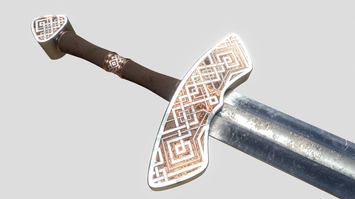 Linear Viking Sword 3D Model