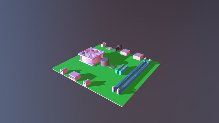 Electronic Chip 3D Model