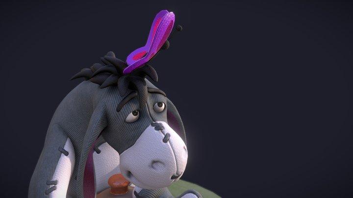 Happy Eeyore 3D Model