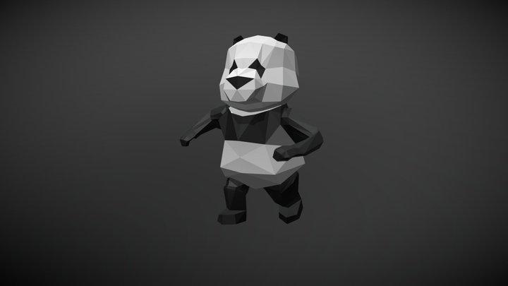 Low Poly Panda - run animation 3D Model