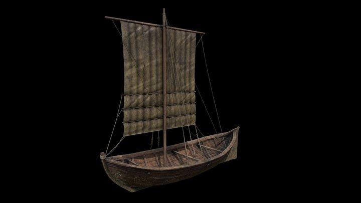 Middelalderbåt WIP - duplicated version 3D Model