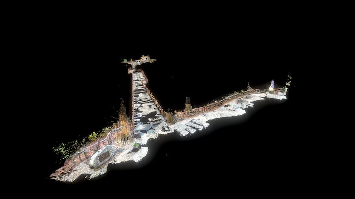 Inokashira Park Nanai Bridge 3D Model