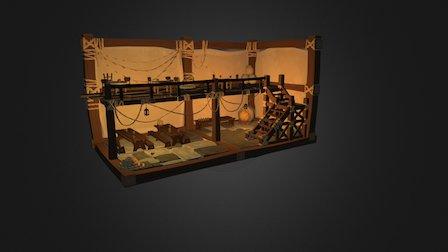 Tavern self painted 3D Model