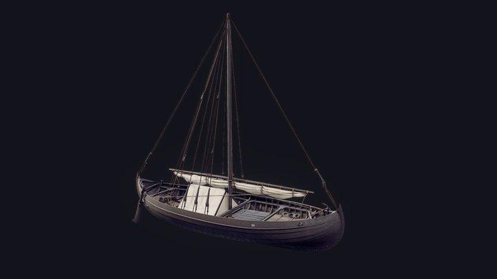Viking Cargo Ship - Skuldelev 1 3D Model