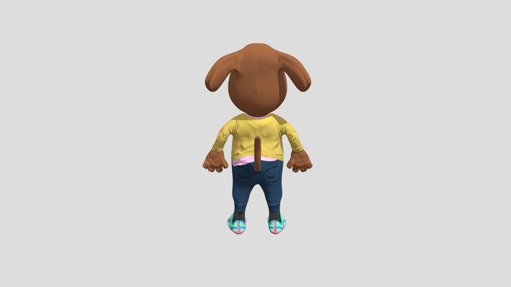 Dog as GlTF directly 3D Model