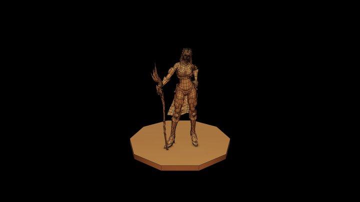 Warrior-girl (3) 3D Model