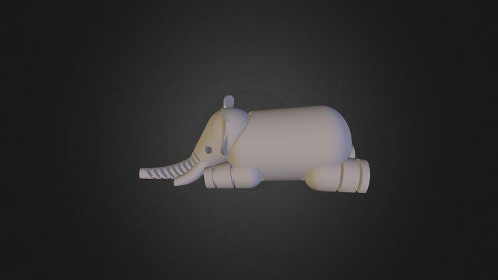 L F S Elephant Geant 3D Model
