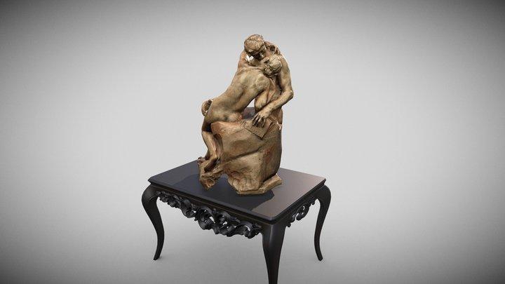 Le Baiser, Plâtre, Rodin. 3D Model