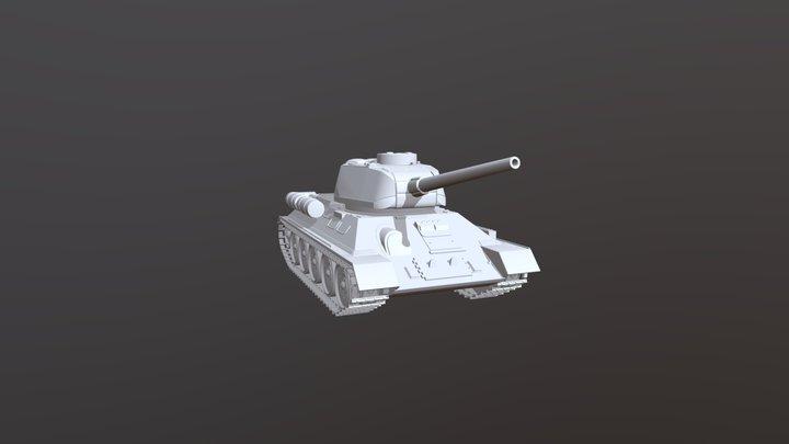 Tank T34 3D Model