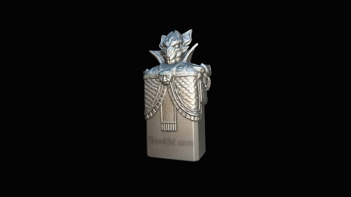 Night King Bottle 3D Model