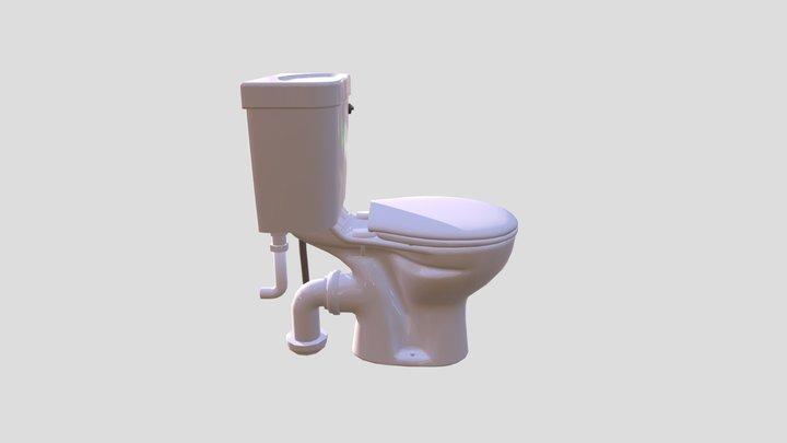 Qualitas Bathrooms toilet low poly 3D Model