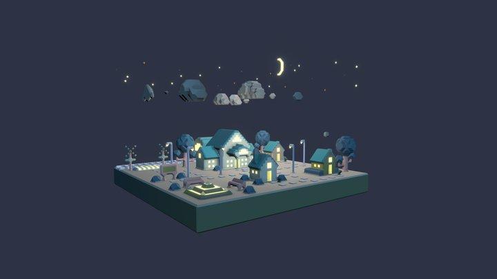 Sleepy City 3D Model