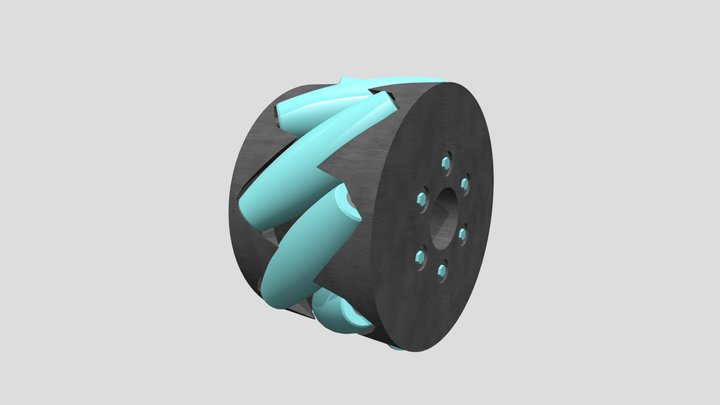 Mecanum Wheel 3D Model