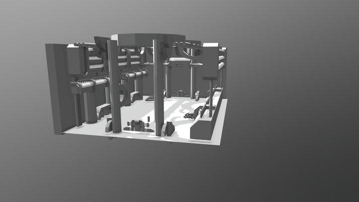 Glitchtale - Lab/Nullifer interior mockup 3D Model