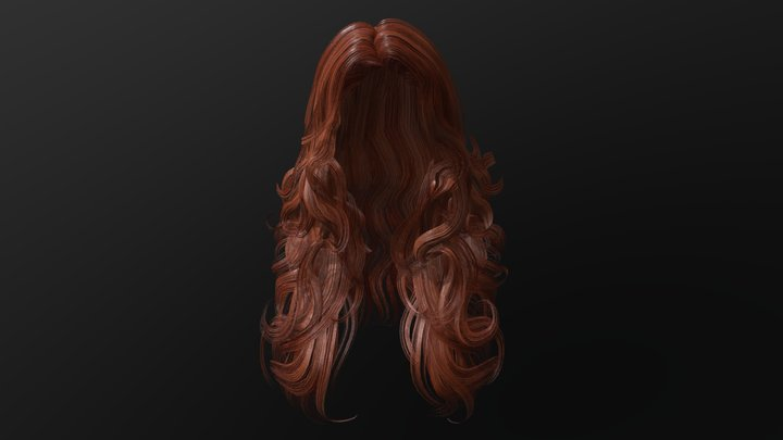 Female hairstyle 3D Model