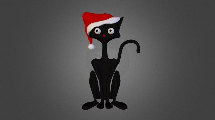 Christmas Cat 3D Model