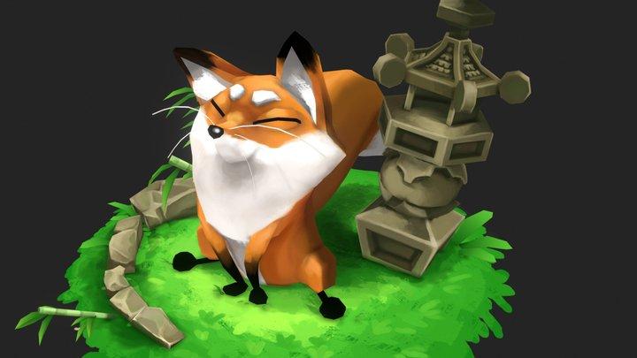 Fox Shrine 3D Model