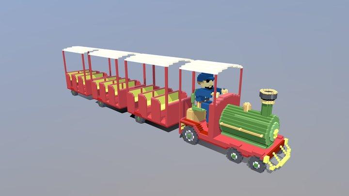 Children's Carnival Train Ride 3D Model