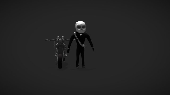 Ghost Rider 3D Model