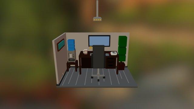 Work place 3D Model