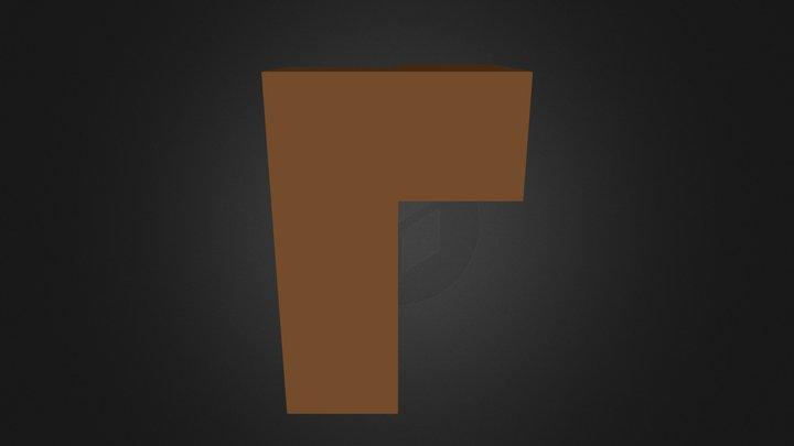 Brown Puzzle Cube Part 3D Model
