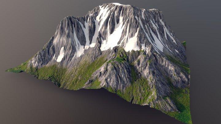 Mountain Peaks Terrain 3D Model