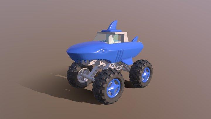 Monster Truck Shark 3D Model
