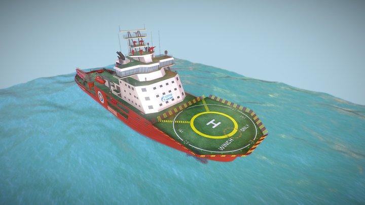 Ледокол Александр Санников (by Lightproduction) 3D Model
