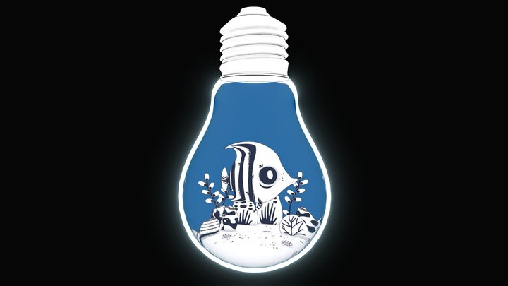 Lightbulb Aquarium 3D Model
