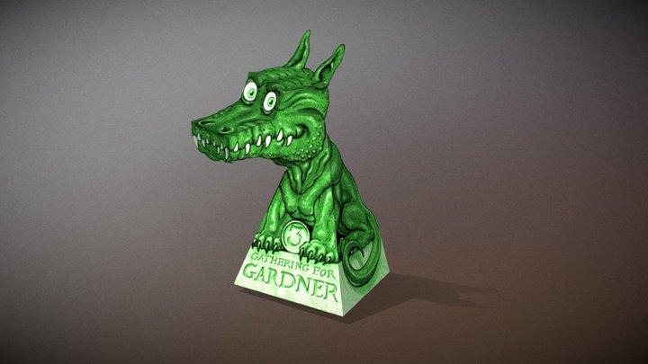 3D Paper Dragon Illusion 3D Model