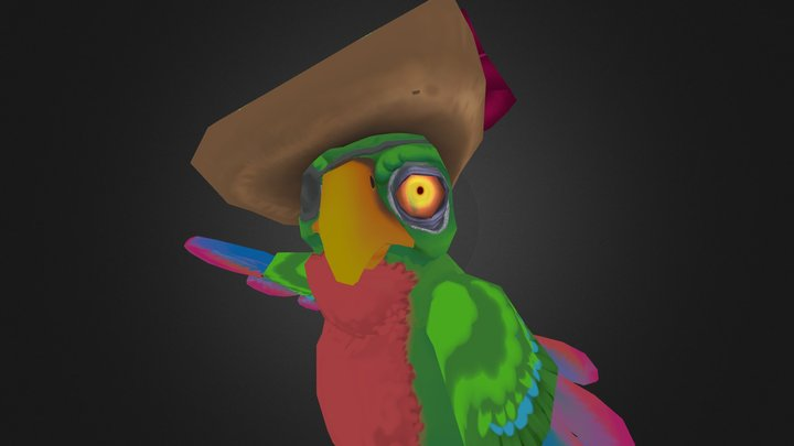 Piratey Parrot w/o Subsurf 3D Model