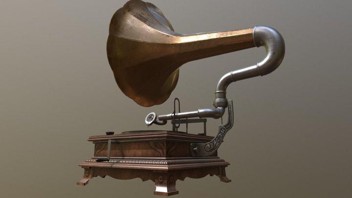 Gramophone WIP 3D Model