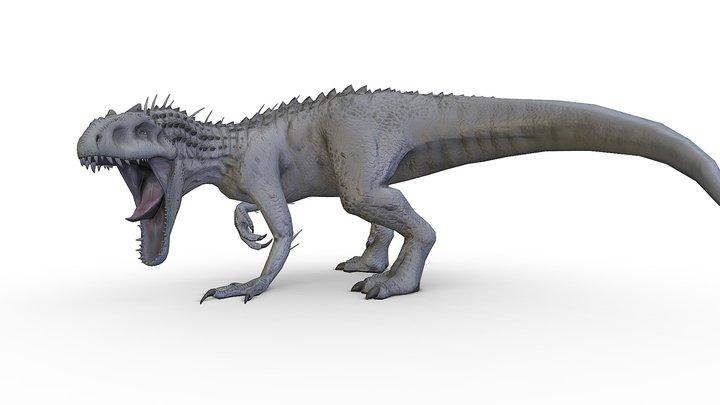 Jurassic World Indominus Rex Statue 3D Model
