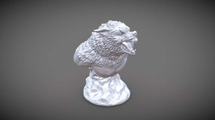 Lycaon Werewolf Miniature Bust for 3d printing 3D Model