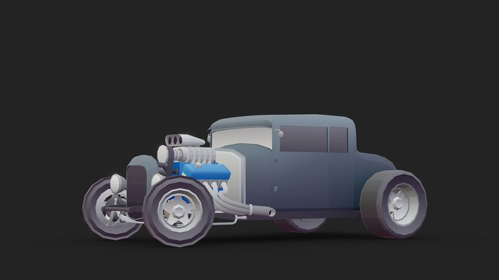 Vehicle - Hod Rod Ford Coupe 3D Model