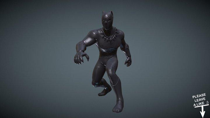 FREE BLACK PANTHER V01 (Low-Poly Version) 3D Model