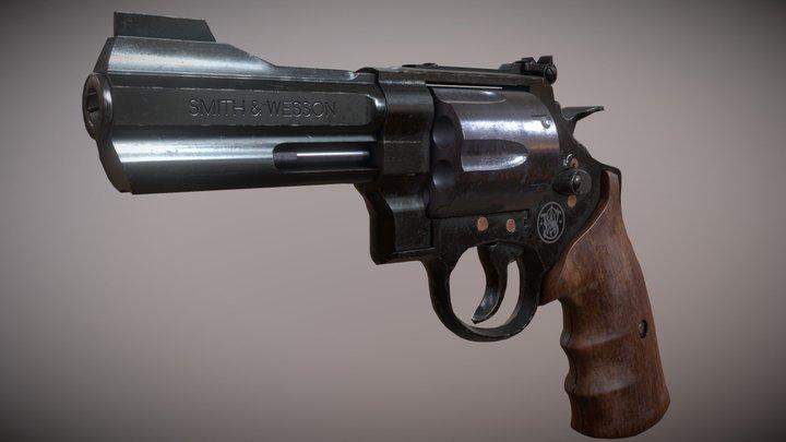 Smith & Wesson .44 Revolver 3D Model