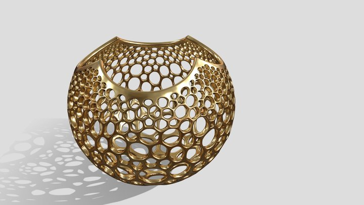 Stereographic Voronoi Sphere 3D Model