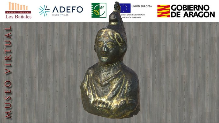 Pesa con busto de Attis (siglo III d. C.) 3D Model