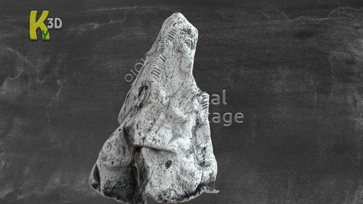 CRAG - Ogham Stone - KE048-016 3D Model