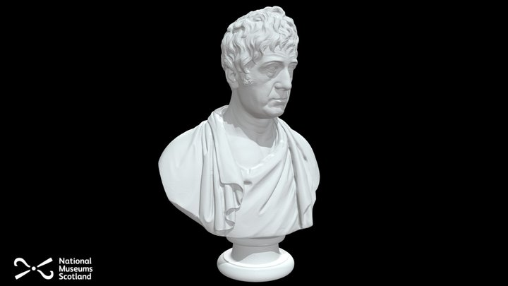 Joseph Hume Marble Bust 3D Model