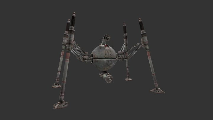Homing Spider Droid 3D Model