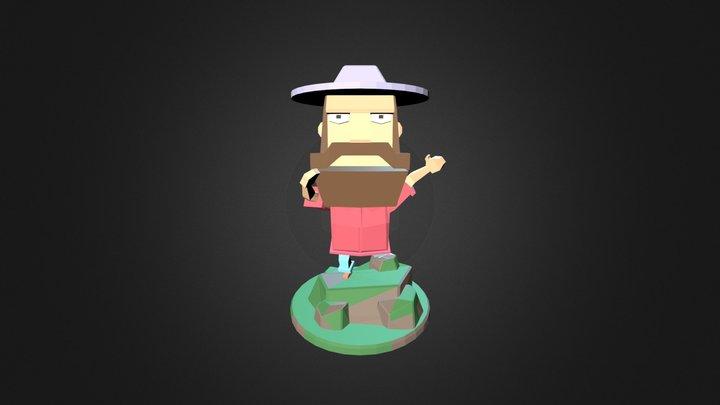 Low Poly Man 3D Model
