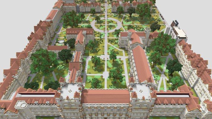 Minecraft University of Chicago 3D Model