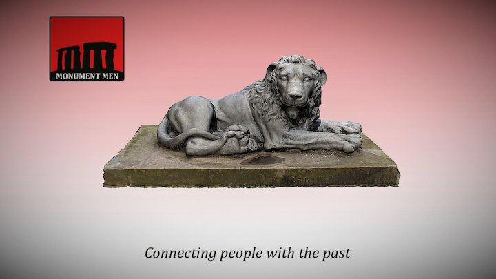 Lion Statue (Heaton Hall, Manchester) 3D Model