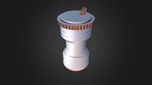 Skrunch Bottle With Spout Cap 3D Model
