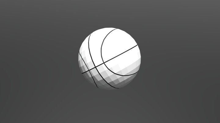 Basketball (Low Poly) 3D Model