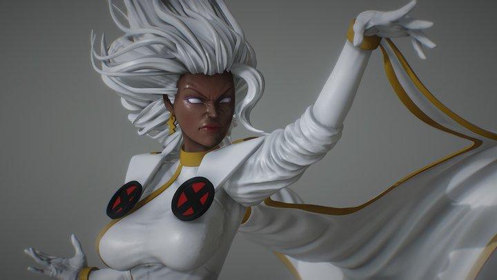 Storm from X-men /Fanart/OBJ download 3D Model