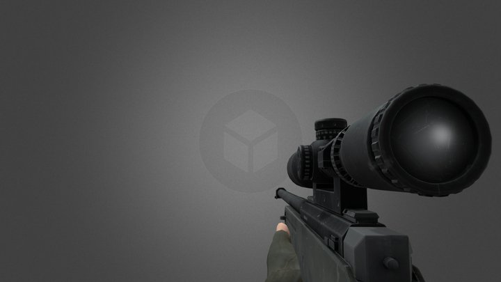 AWM Animated + Sounds 3D Model